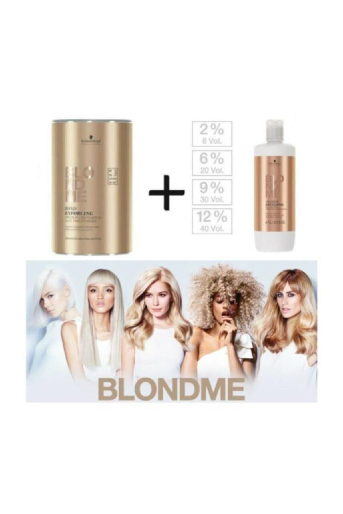 BLONDME Premium Lift+9 Açıcı 450 G + Oksidan %12 40 Volume 1000 ml 2