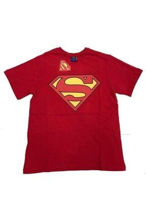 Superman Unisex Kırmızı (klasik Logo)  Orijinal Lisanslı  Tshirt