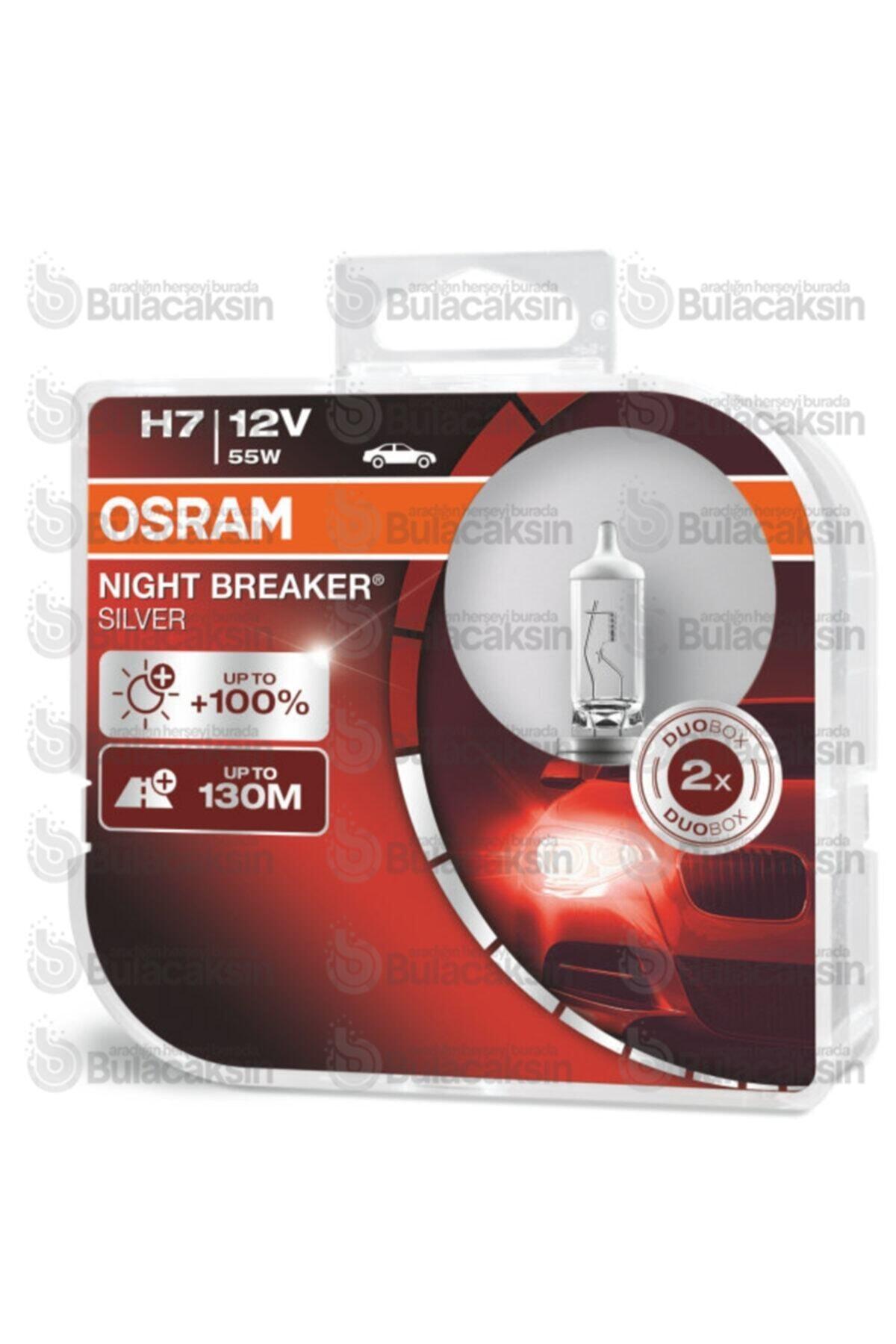 Osram Night Breaker Silver H7 Ampul 64210nbs +100% Fazla Işık 2