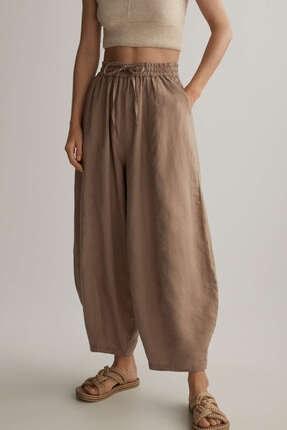 Oysho Kadın Keten Geniş Pantolon
