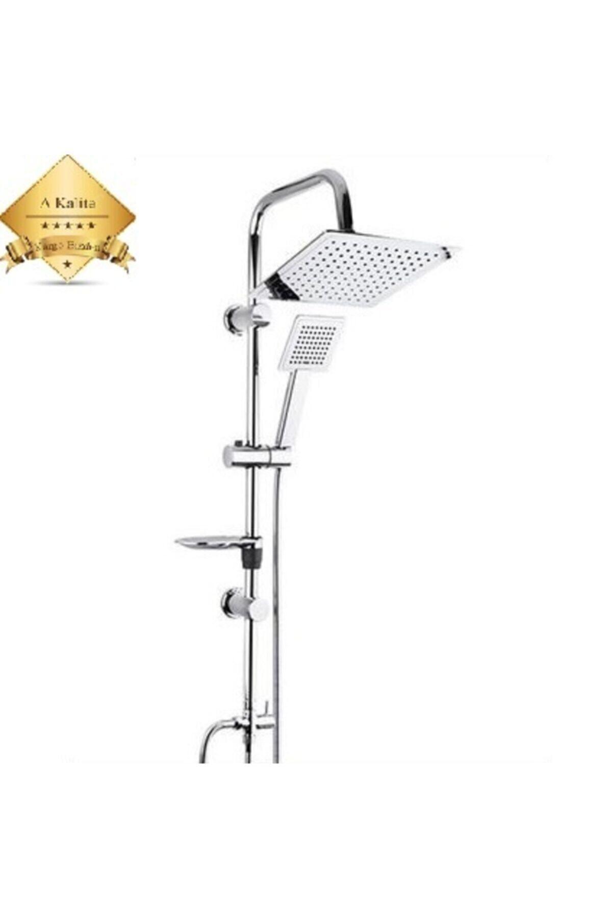 Beyazsu Duş Seti Kalista, Çiftli Yağmurlama Robot Duş Sistemi , Krom Duş Seti Takımı 1