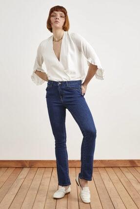 Love My Body Kadın Lacivert Boru Paça Pantolon