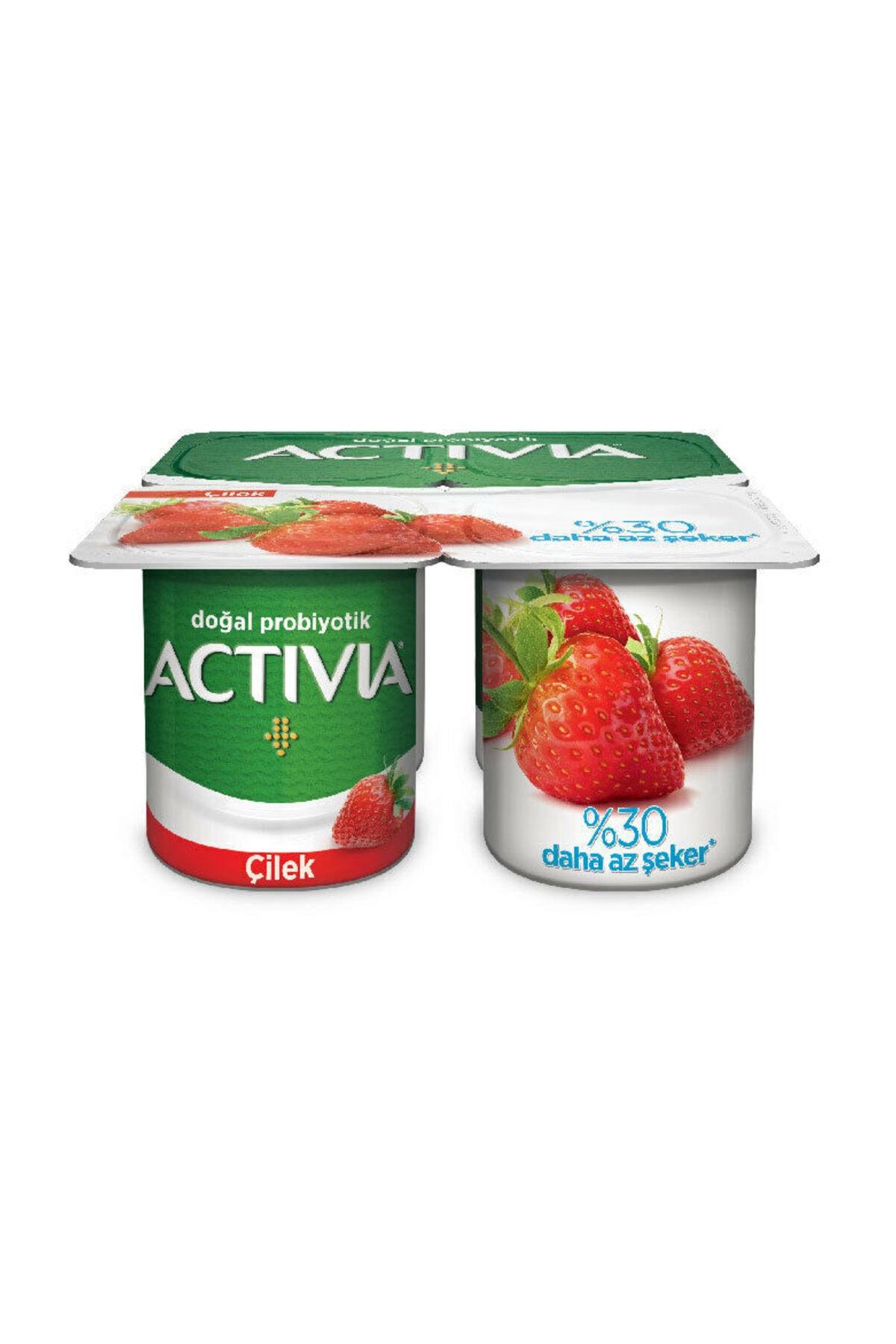 Danone Activia Probiyotikli Yoğurt Çilek Keten Tohumu 100 gr 1