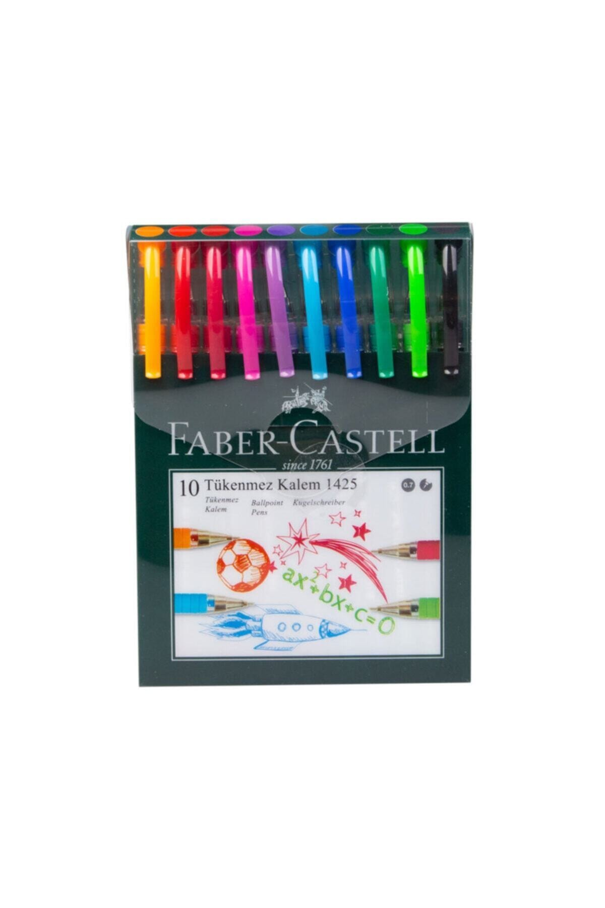 Faber Castell Iğne Uçlu Tükenmez Kalem Seti 10 Renk 0.7mm 1
