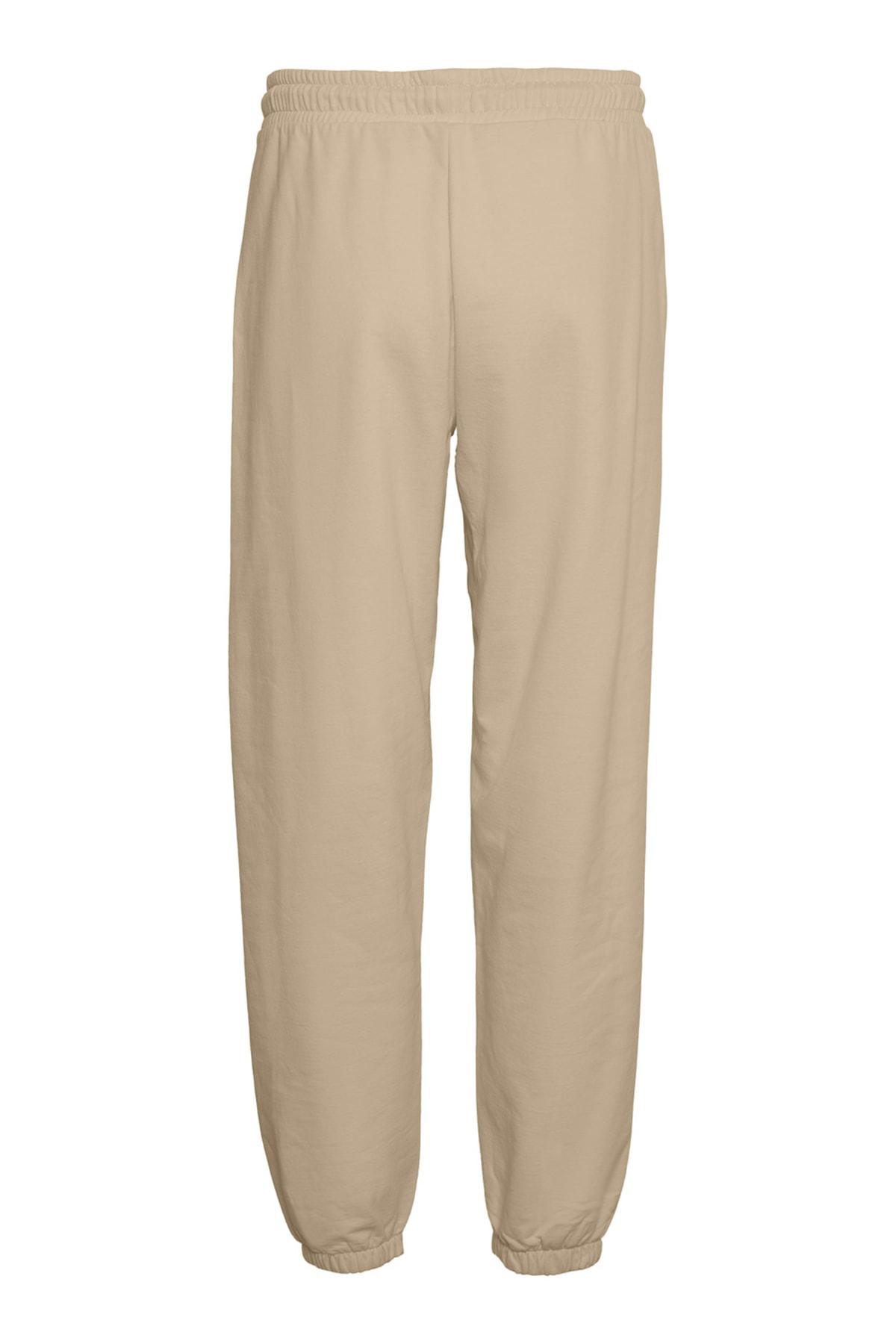 Vero Moda Kadın White Pepper Paçası Lastikli Yüksek Bel Sweat Pantolon 10252961 VMOCTAVIA 2