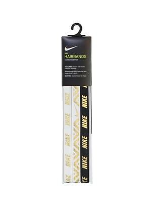 Nike Kadın Saç Bandı - Metallic Hairbands 3 Pack White/White/Black - N.JN.G8.912.OS