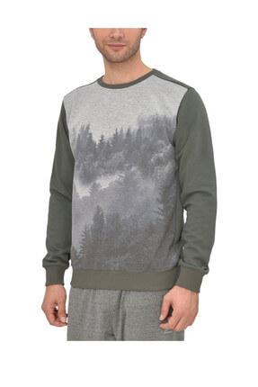 Kinetix Basic D Sweatshirt Haki Siyah Erkek Sweatshirt 100340299