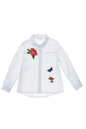 Panço Beyaz Kız Çocuk Gömlek 1722263100
