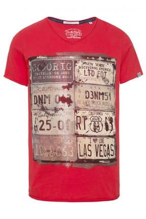Camp David Erkek Kırmızı T-Shirt CCD-1612-3752_AMR