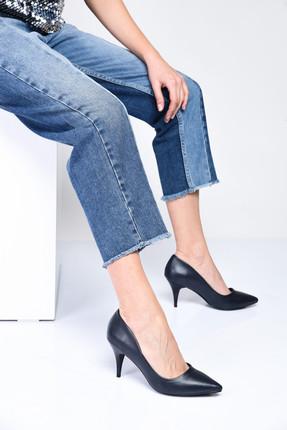 Shoes Time Lacivert Kadın Topuklu Ayakkabı 18Y 11905