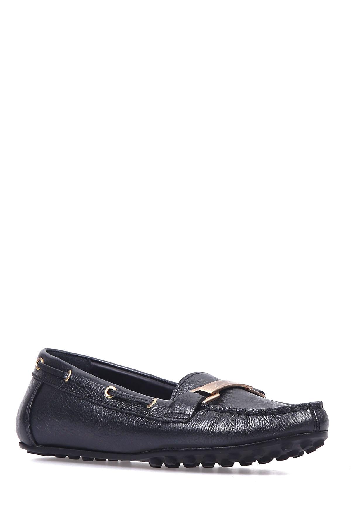 Derimod Hakiki Deri Siyah Kadın Loafer Ayakkabı 1