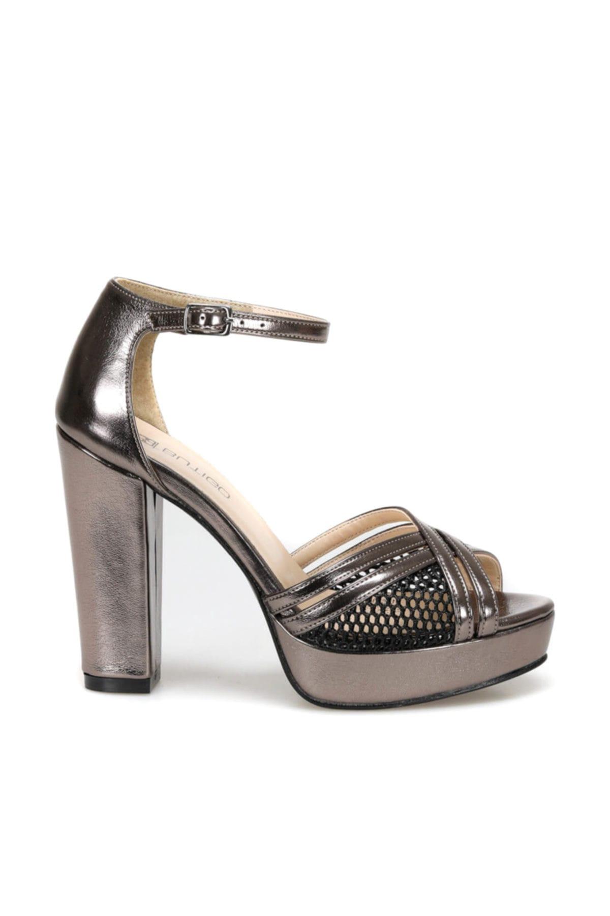 Butigo 19s-368 Antrasit Kadın Topuklu Ayakkabı 100371268 2