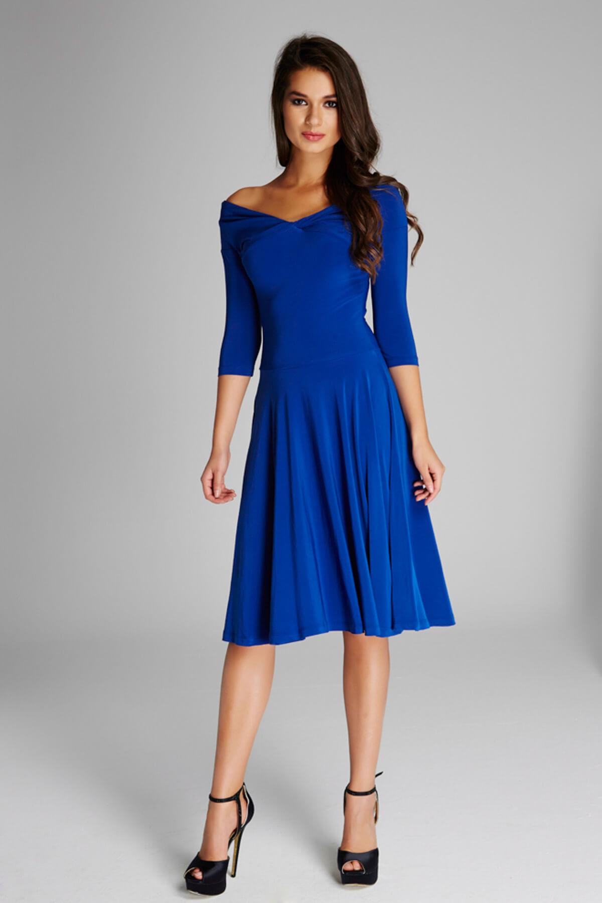 Laranor Kadın Saks Omuz Dekolteli Elbise 13K020-L 1