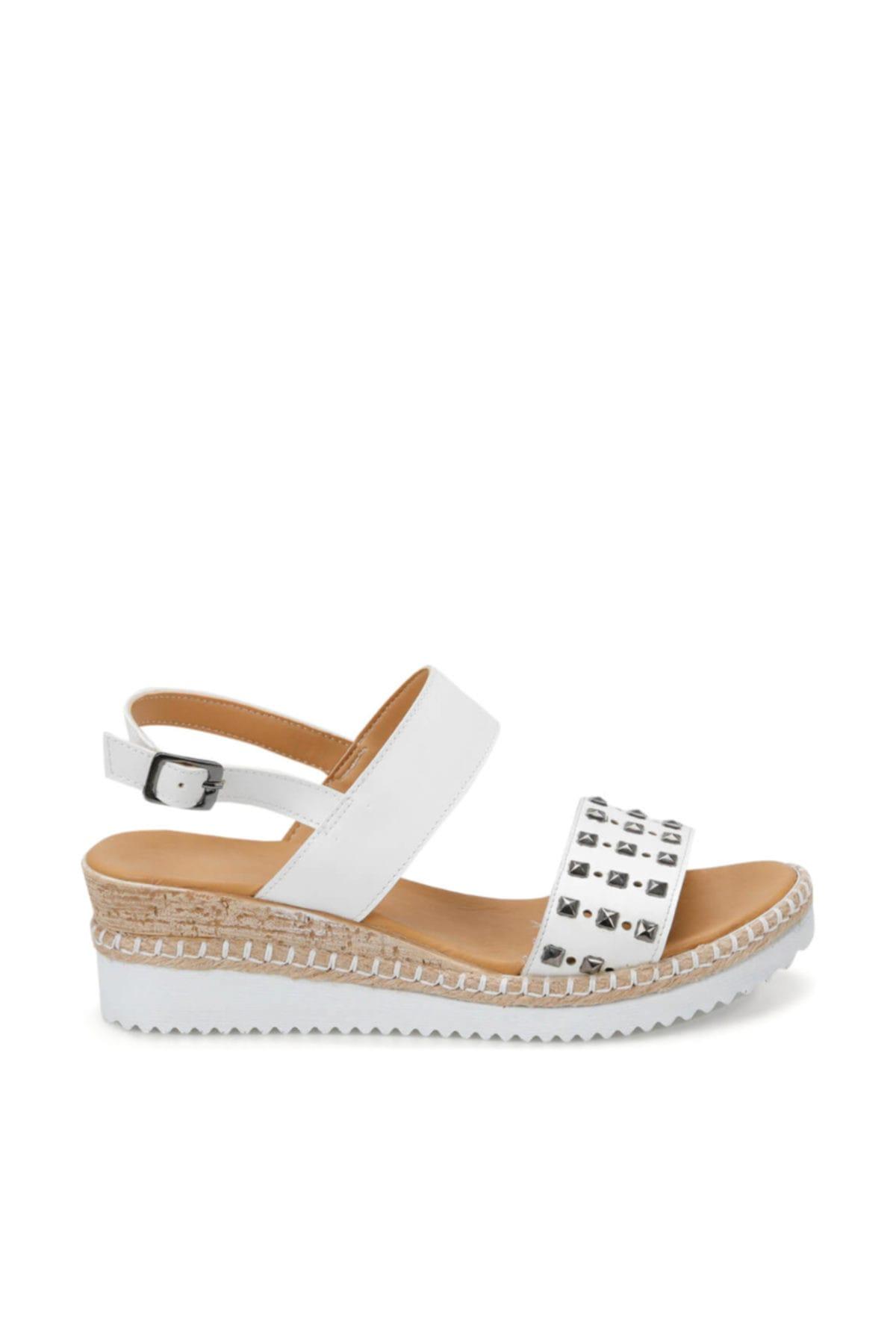 ART BELLA Cs19132 Beyaz Kadın Sandalet 100382775 2