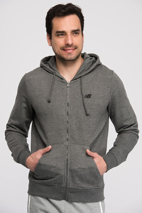 New Balance Erkek Sweatshirt - V-MTJ805-CHC