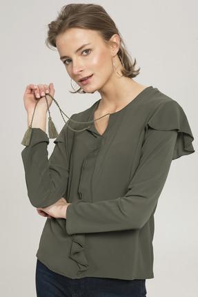 BFGMODA Kadın Yeşil Bluz 753-588-2013
