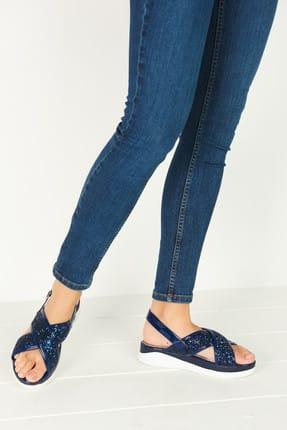 Derimod Lacivert Kadın Sandalet