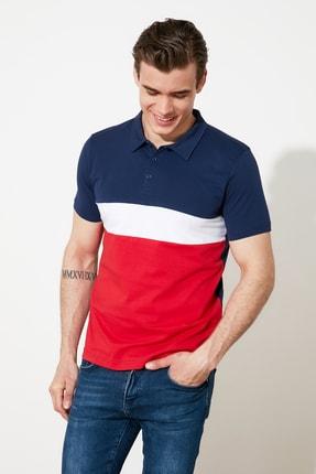 TRENDYOL MAN Lacivert Panelli Polo Yaka T-shirt TMNSS20PO0162