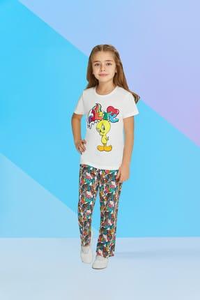 TWEETY Lisanslı Kız Çocuk Pijama Takımı