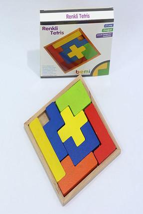 BEMİ Bemi Ahşap Renkli Tetris /