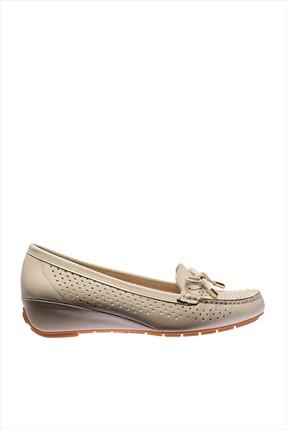 İnci Hakiki Deri Bej Kadın Dolgu Topuk Ayakkabı 120120160010