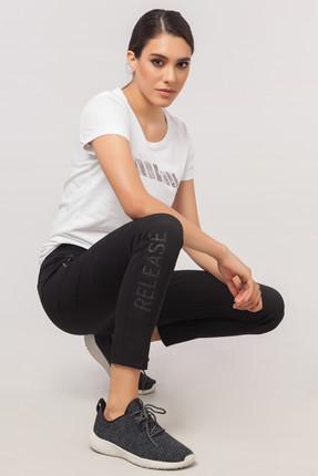 bilcee Beyaz Likralı Pamuklu Kadın T-Shirt EW-3006