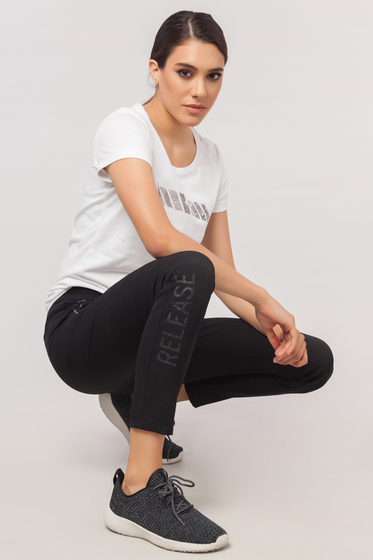 bilcee Beyaz Likralı Pamuklu Kadın T-Shirt EW-3006 1