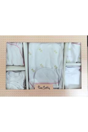 Pierre Cardin Kız Bebek Beyaz Giyim 10'lu Hastane Çıkış Seti Çiçekli 2/301373