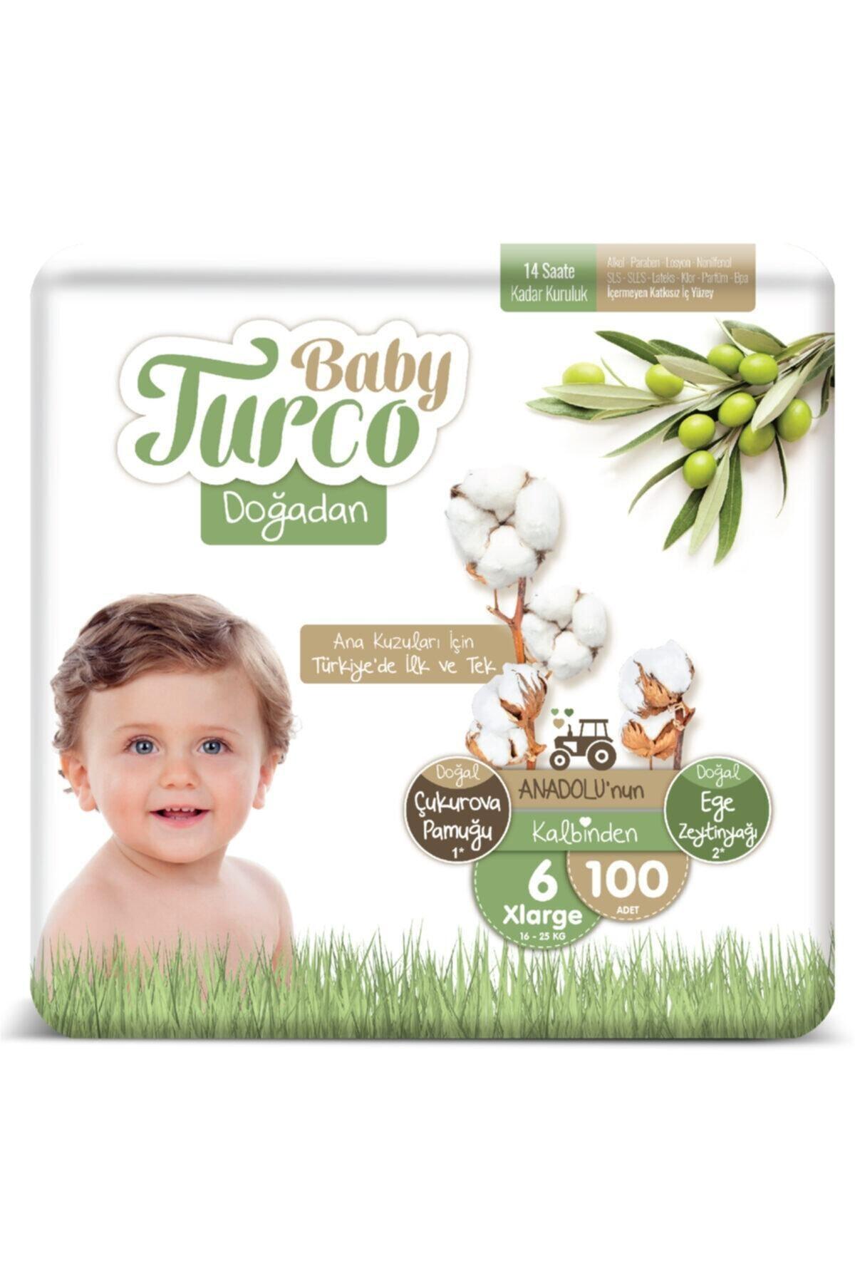 Baby Turco Doğadan 6 Numara Xlarge 100 Adet 1