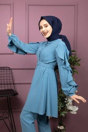 lamelif store Kadın Mavi Lamelif Takım 2170