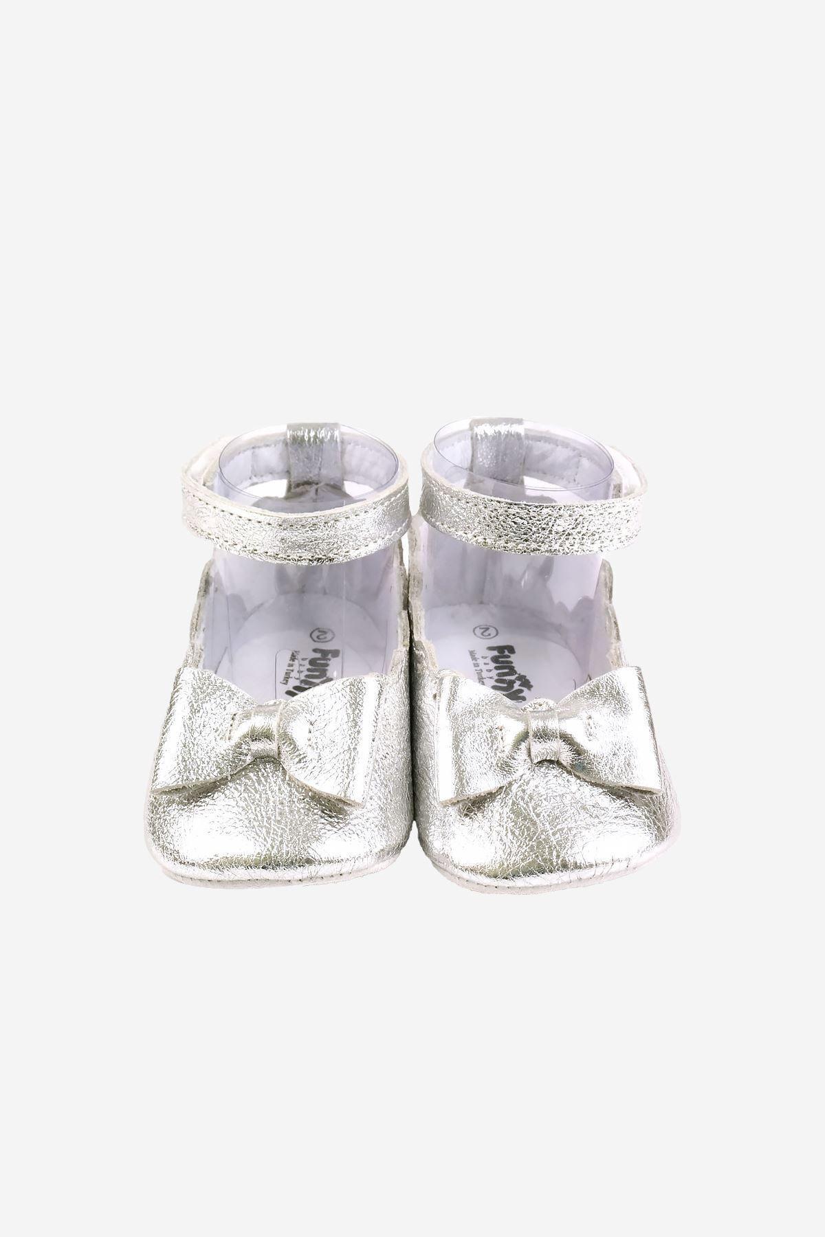 Funny Baby Naturel Deri Bilekten Cırtlı Bebek Ayakkabısı 2