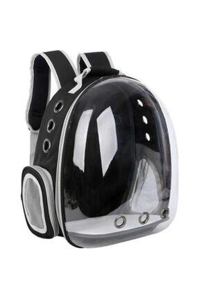 Hormiga Siyah Şeffaf Astronot Kedi Köpek Taşıma Sırt Çantası 45x36x25 Cm