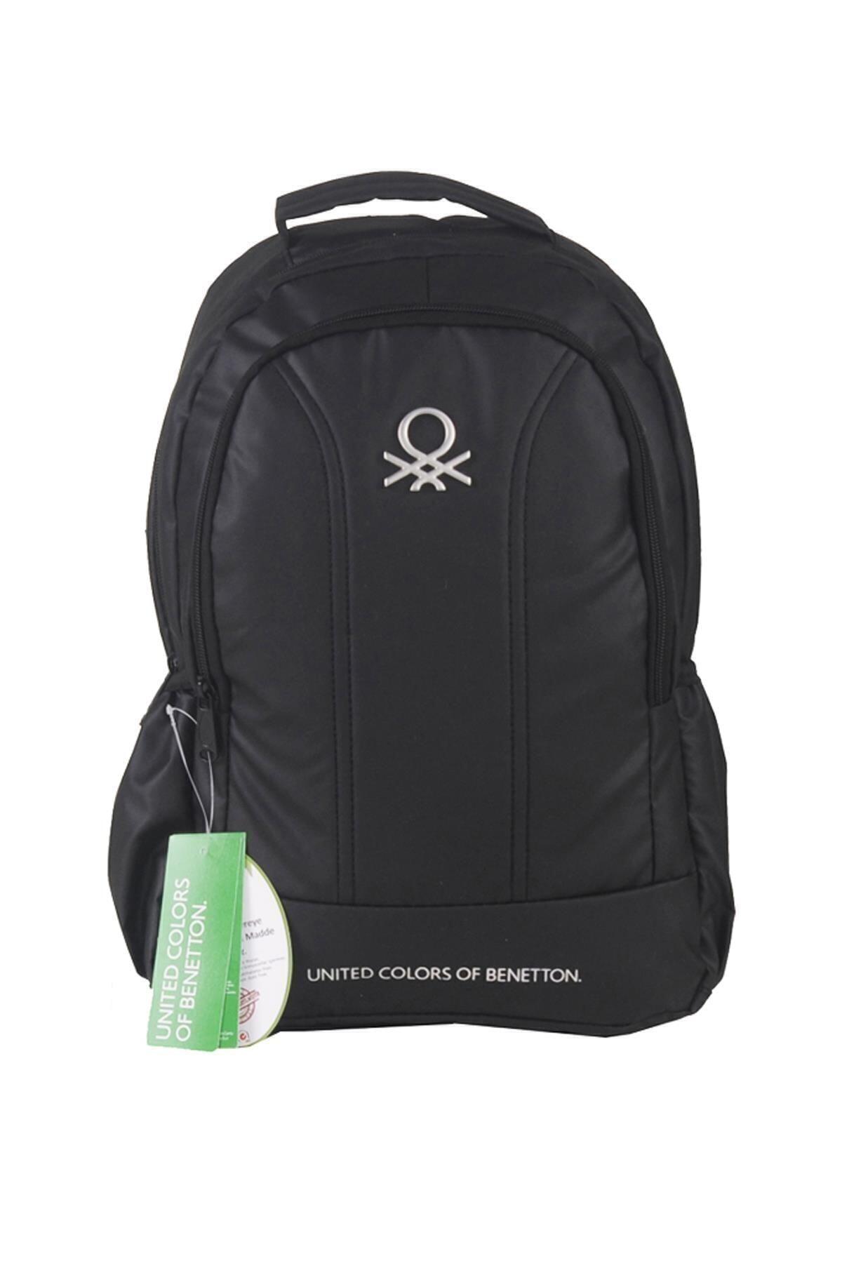 Benetton Unisex Siyah Okul Sırt Çantası 1