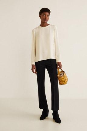 MANGO Woman Kadın Kırık Beyaz Bluz 43033007