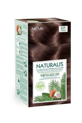NEVA KOZMETİK Naturalis Saç Boyası 6.77 Sıcak Çikolata %100 Vegan