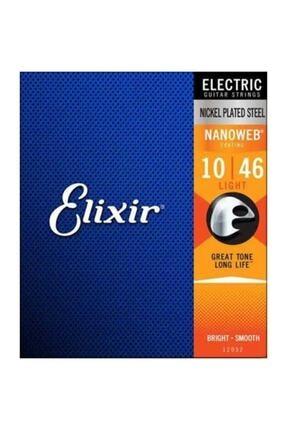 Elixir 12052 Nanoweb Light Elektro Gitar Teli (10-46)