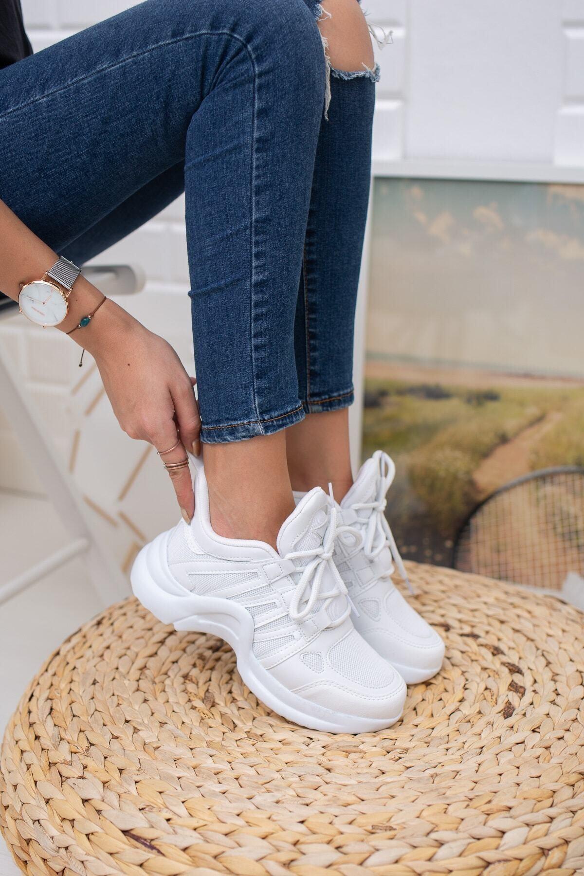 MORENİCA Beyaz Spor Ayakkabı 1