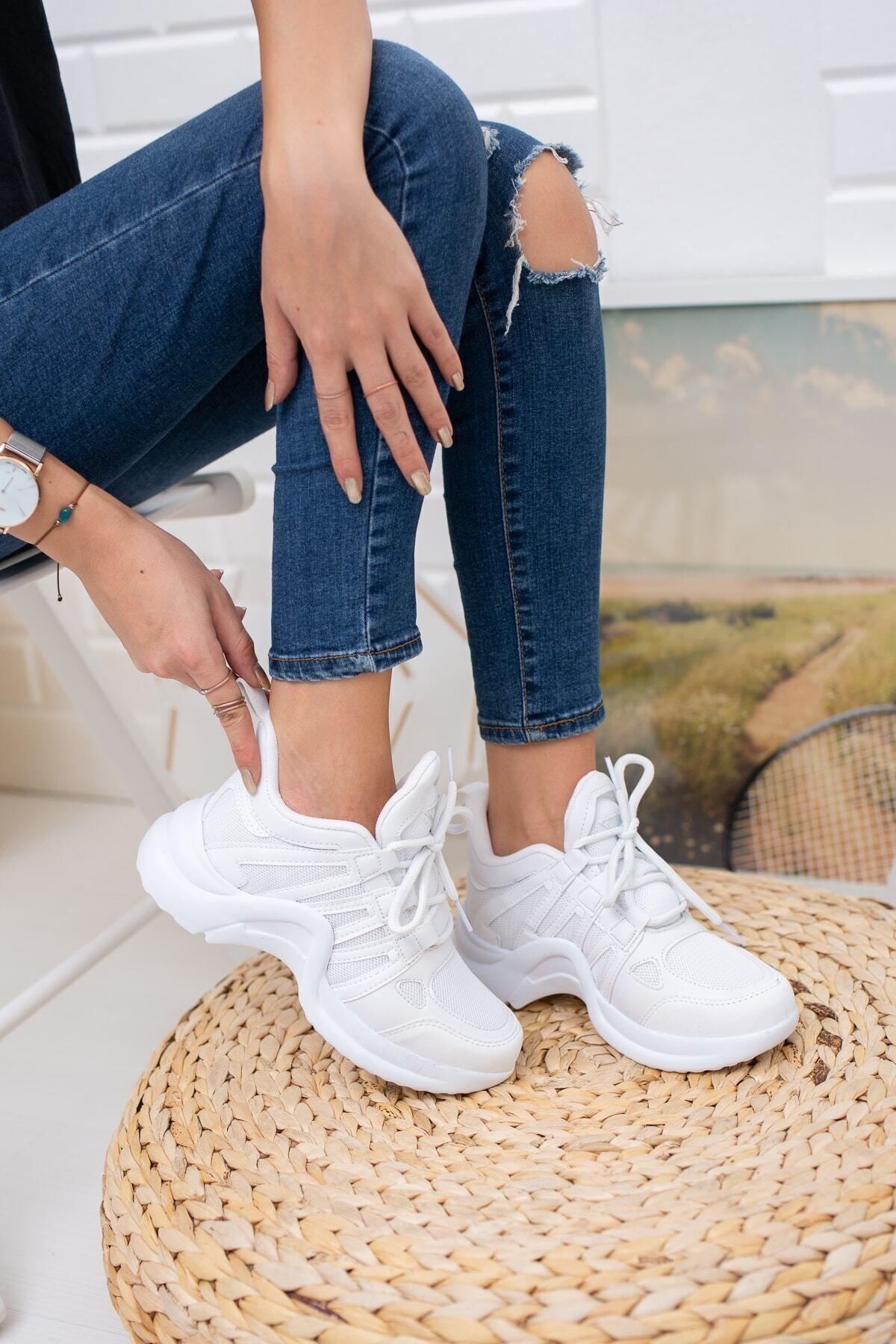 MORENİCA Beyaz Spor Ayakkabı 2