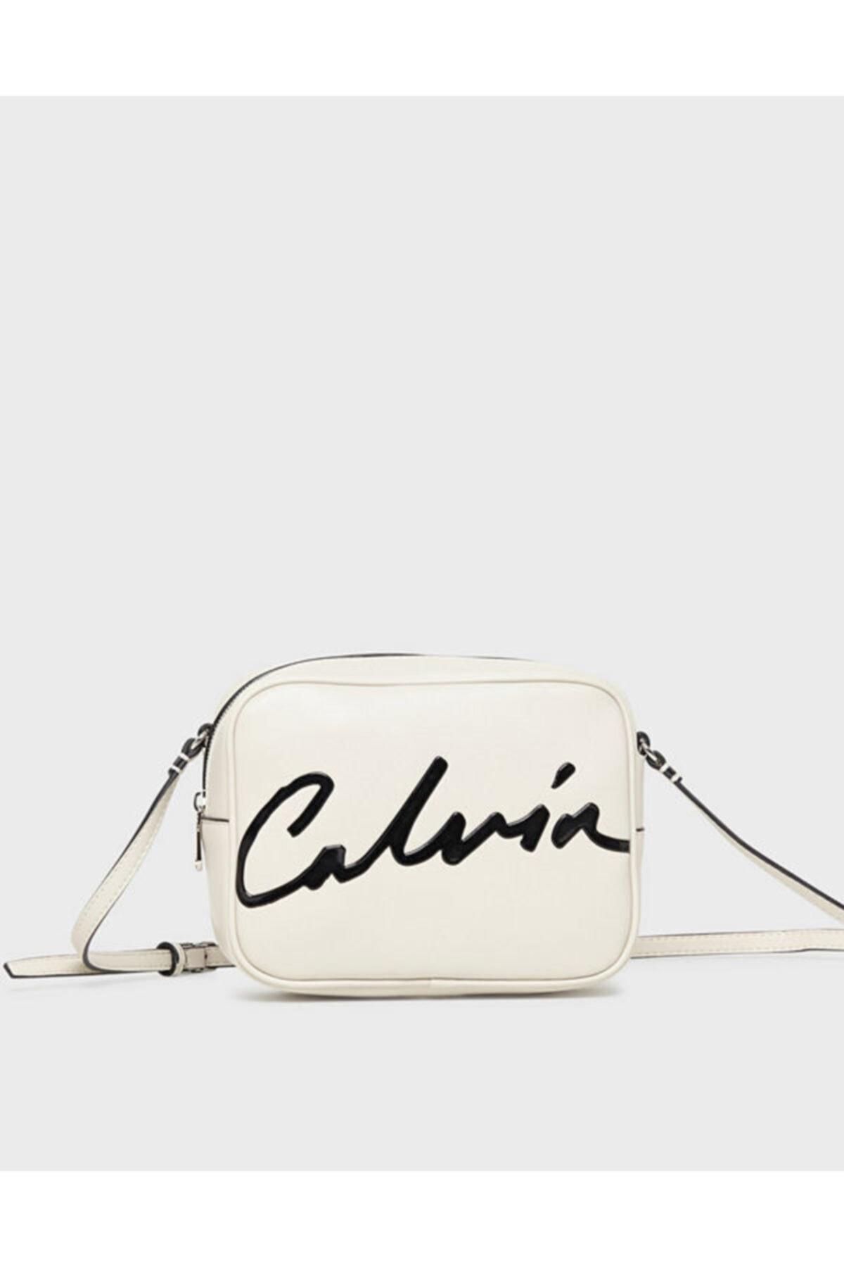Calvin Klein Kadın Beyaz Omuz Çantası  Eo/sclptd Lrg Cam B 1