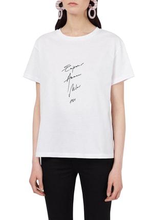 Emporio Armani Kadın Basklı Bisiklet Yaka T Shirt 3k2t7b 2j95z 0100