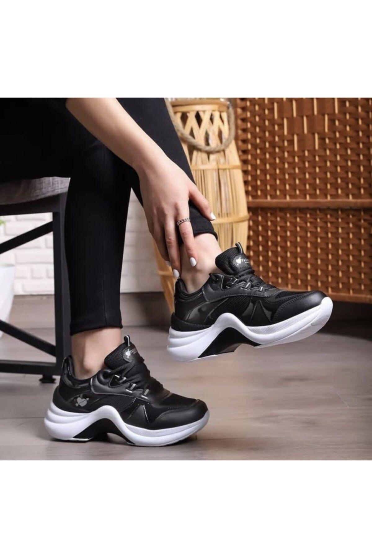 Twingo Kadın Siyah Beyaz Sneaker Ayakkabı 1