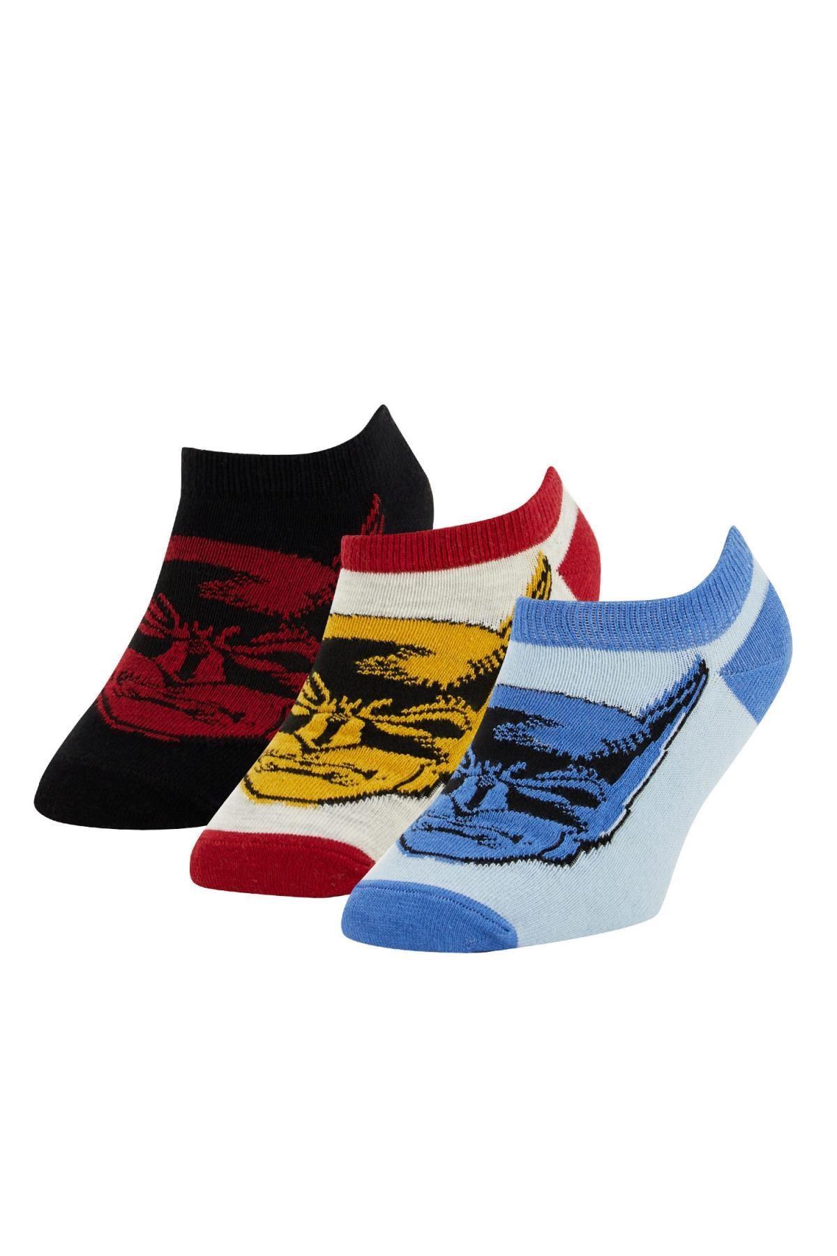 DeFacto Erkek Çocuk Batman Lisanslı 3'lü Patik Çorap