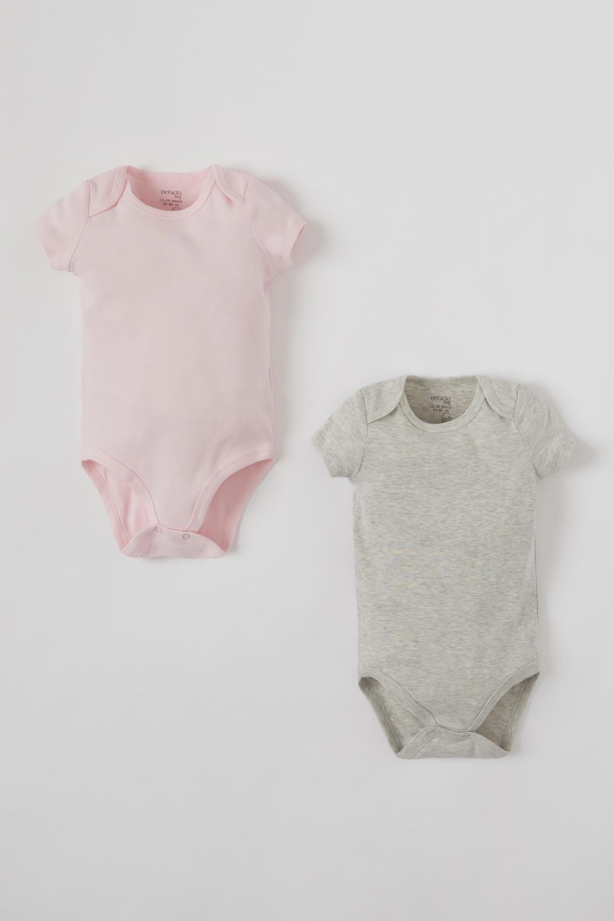 DeFacto Kız Bebek Basic Kısa Kol Çıtçıtlı 2'li Body