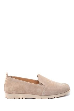 Derimod Kadın Bej Süet Ayakkabı