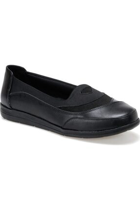 Polaris Siyah 5 Nokta Tam Ortopedik Kadın Ayakkabı