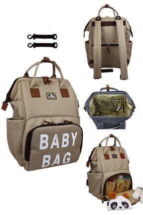 Stylo Roma Baby Bag Baskılı Anne Bebek Bakım Sırt Çantası-vizon