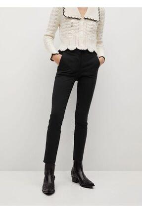 MANGO Woman Kadın Siyah Kısa Paçalı Skinny Pantolon