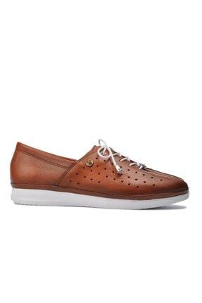Pierre Cardin Kadın Taba Düz Loafer Ayakkabı