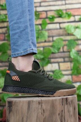 Riccon Unisex  Haki Siyah Sneaker 0012430