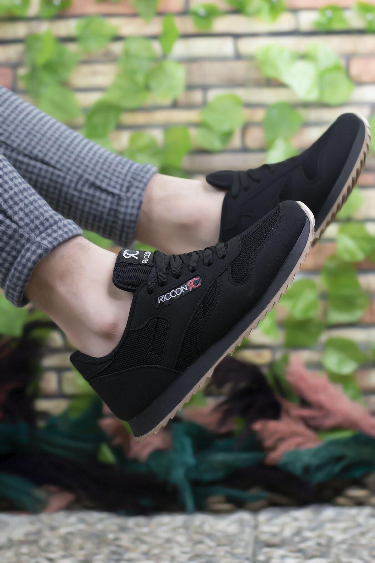 Riccon Siyah Siyah Unisex Sneaker 00121057 1